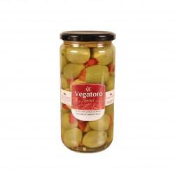 Olivy Gordal plněné červenou paprikou 720g - Vegatoro