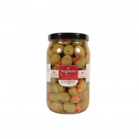 Olivy Gordal plněné červenou paprikou 1,9Kg