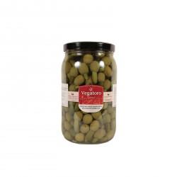 Olivy Hojiblanca plněné baby okurkou 1,9Kg - Vegatoro