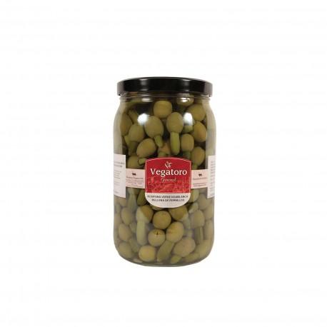 Olivy Hojiblanca plněné baby okurkou 1,9Kg