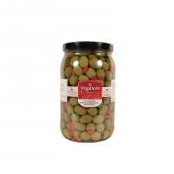 Olivy Hojiblanca plněné červenou paprikou 1,9Kg