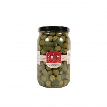Olivy Hojiblanca plněné jalapeňos 1,9Kg