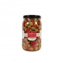 Olivy Hojiblanca plněné piri-piri 1,9Kg