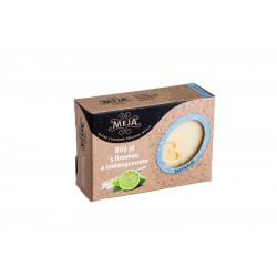 Mýdlo MEJA - bílý jíl s limetou a lemongrassem