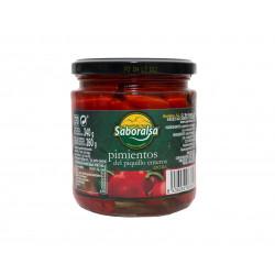 Červená paprika celá Piquillo 370g - Saboralsa